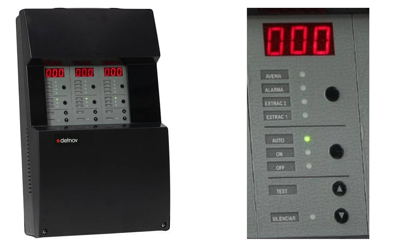 Centrala de detectie monoxid de carbon dedicat zonele de parcare - Producator DETNOV
